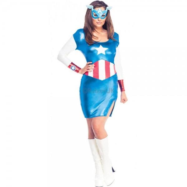 Ladies Avengers Marvel Superhero Women Heroine Adult Fancy Dress