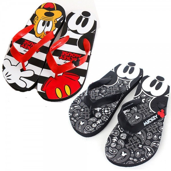 Disney Mickey Mouse Slippers Adult Beach Shoes Slip