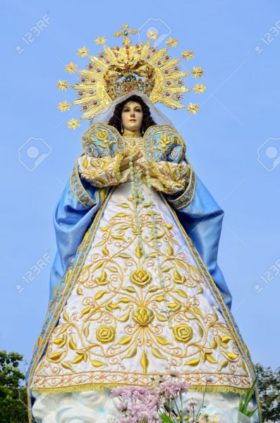 Statue Of The Holy Mother Virgin Mary, Mother Of God  Stock Photo