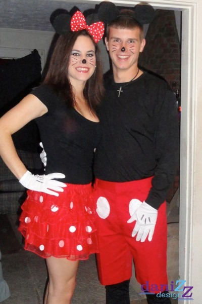 Mickey And Minnie Mouse Inspired Couple's Costume In 2019