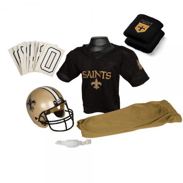 New Orleans Saints Youth Nfl Supreme Helmet And Uniform Set (small