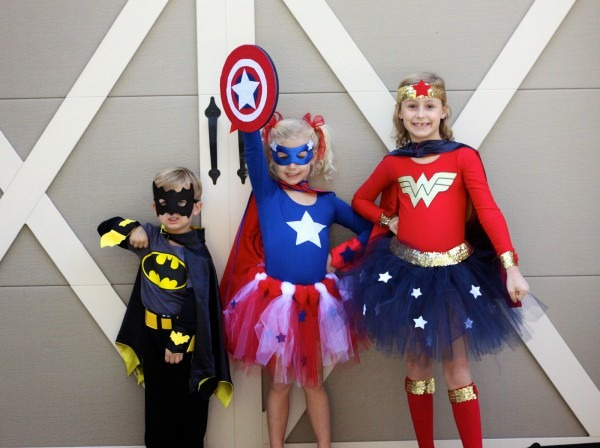20  16 Diy Easy Costumes For Kids No Sew, Easy Girl Superhero