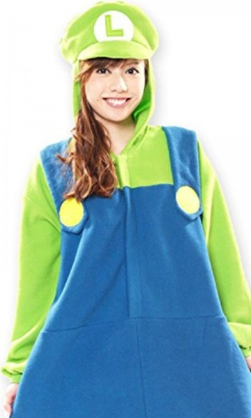 Sazac Super Mario Brothers Luigi Fleece Kigurumi Cosplay Costume