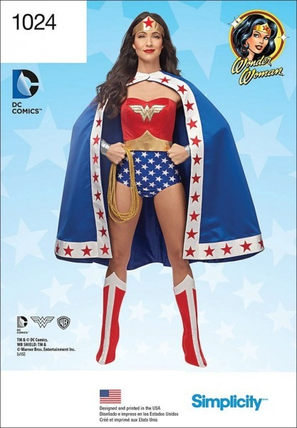 Simplicity Creative Patterns Us1024r5 Misses Wonder Woman Costume