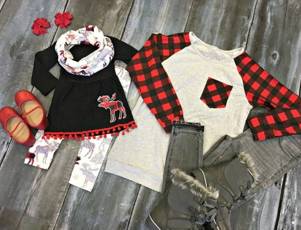 Wild Winter Collection  A Pant And Scarf Set For Girls And