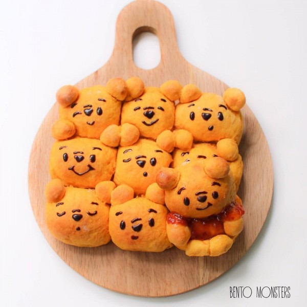 Pooh Bear Pumpkin Bread Buns  Not As Perfect Because Clumsy Me