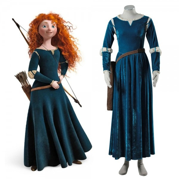 2017 Women Princess Merida Adult Costumes Brave Merida Cosplay