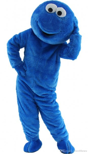 2018 Fast Sesame Street Blue Cookie Monster Mascot Costume Cheap