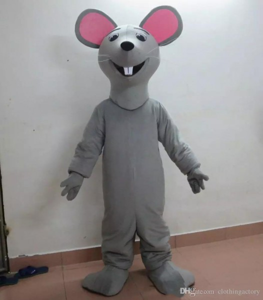 2018 High Quality Hot Adult Grey Mouse Rat Mascot Costume For Sale