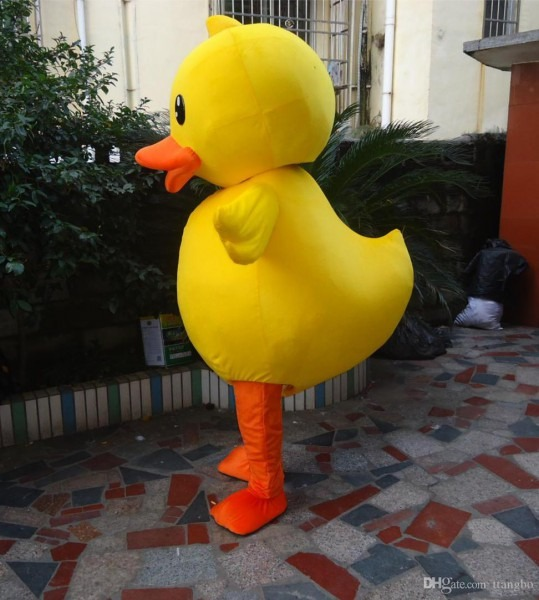 2018 High Quality Of The Yellow Duck Mascot Costume Adult Duck