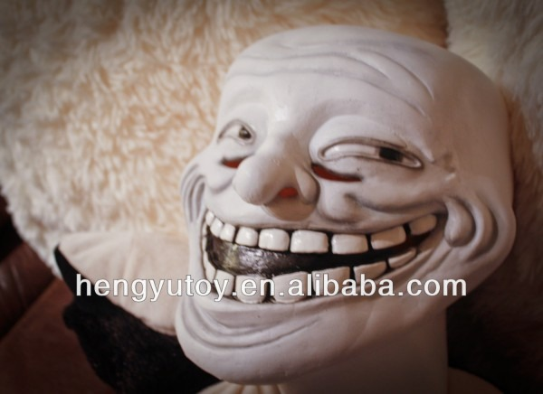 2018 New Year Surprise Latex Troll Face Mask For Fancy Dress