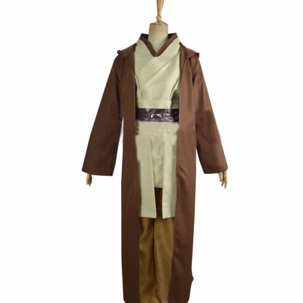 2018 Star Wars Obi Wan Kenobi Jedi Tunic Costume Men Adults