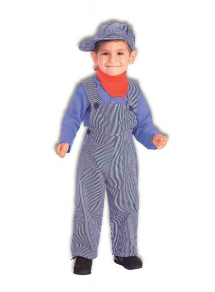 Lil Engineer Train Conductor Child Costume Size Small 4