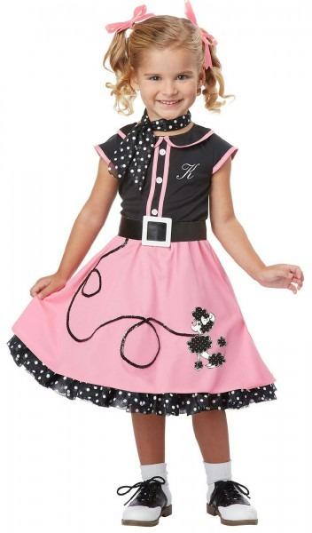 50's Poodle Cutie Toddler Costume Size Medium 3t
