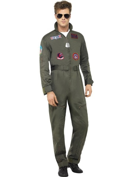 Deluxe Top Gun Mens Costume