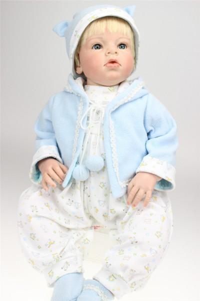 28  70cm Silicone Reborn Baby Boy Dolls For Sale Lifelike Reborn