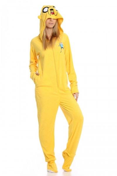 Undergirl Unisex Jake The Dog Adventure Time Onesie In Yellow