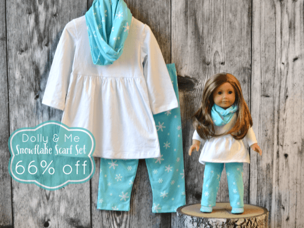 Snowflake Scarf Set  For Little Ladies And Their Dollies! 66  Off