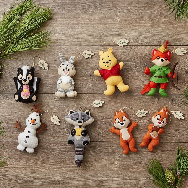 Disney Parks Storybook Plush Ornament Collection