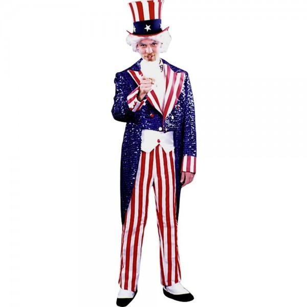 Sequined Uncle Sam Suit  America's Birthday Suit