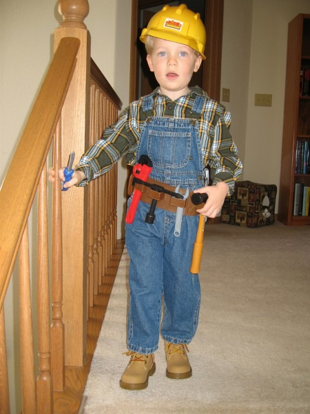 His Construction Worker Costume