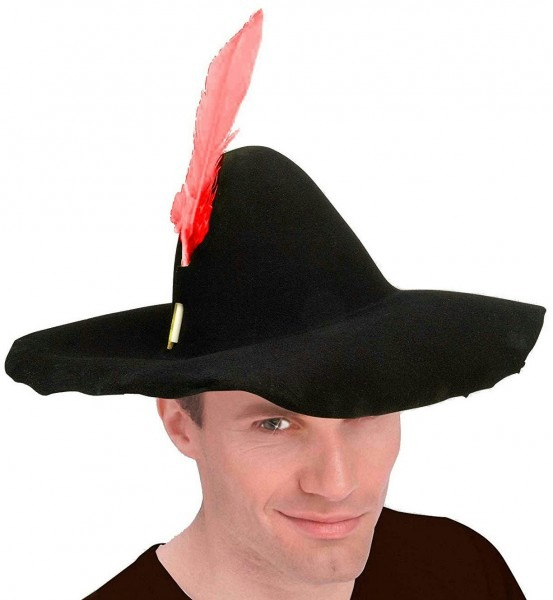 Hillbilly Felt Scarecrow Hat With Feather