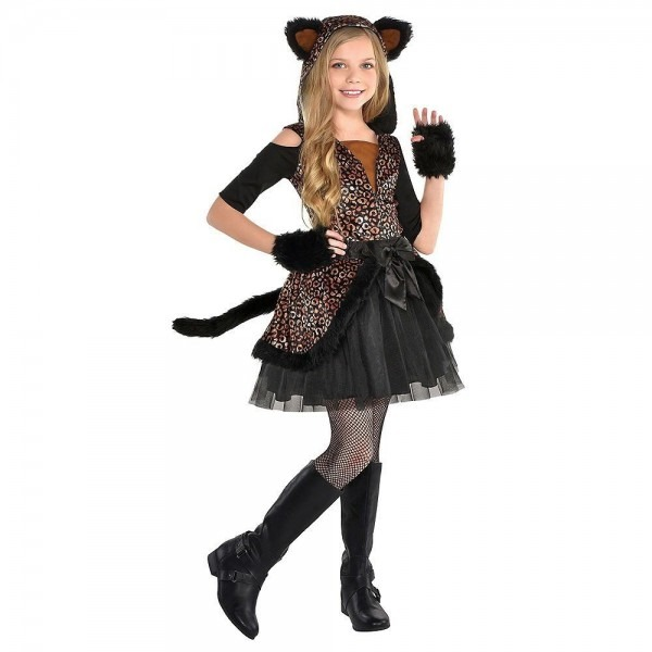 Spot On Leopard Cute Cat Halloween Costume Girls Size Small