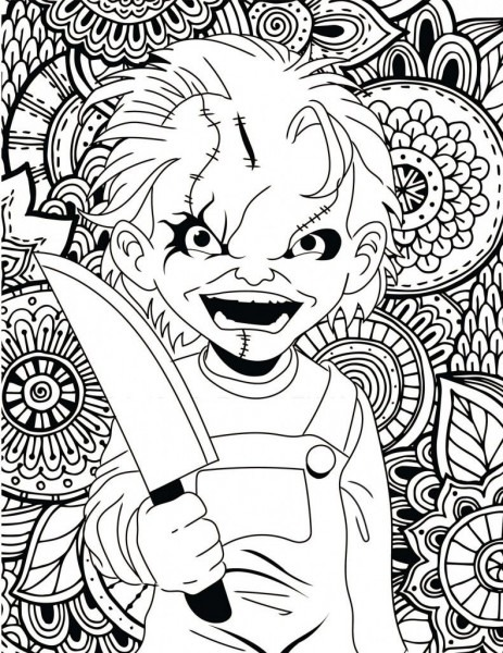 Horror Movies Printable Coloring Pages