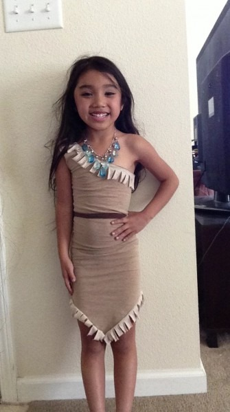 Diy Kids Pocahontas Costume Using 3 Tshirts From Goodwill For $ 99