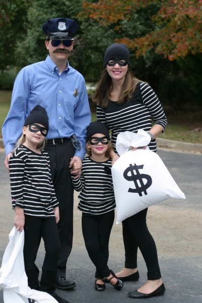 Family Halloween Costume  Cop And Robbers  Really Easy And Fun