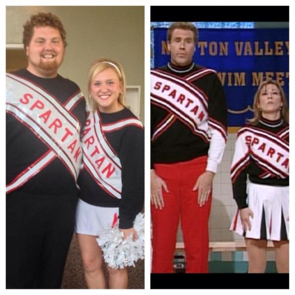 Spartan Cheerleader Costume! Golden Saturday Night Live Skit  Was