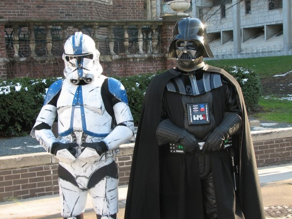 Darth Vader And Clone Trooper