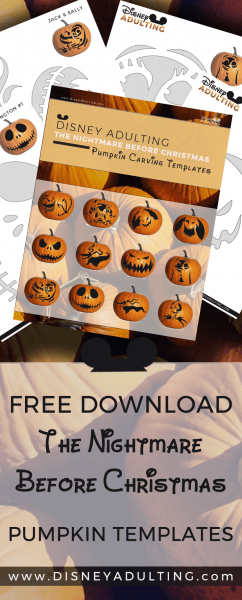 Free Download] Nightmare Before Christmas Pumpkin Templates