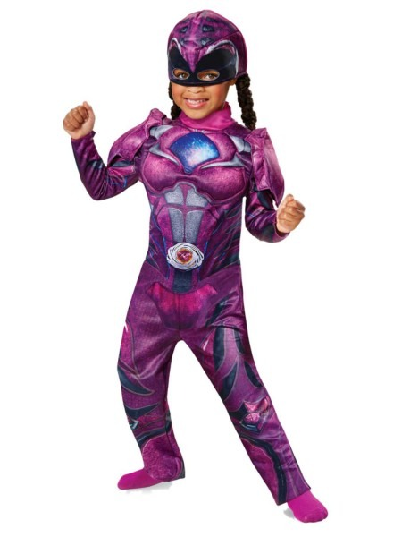 Power Rangers Toddler Girls Pink Ranger Costume Jumpsuit & Hat