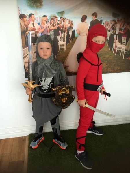 A Knight And A Ninja! How Scary Mac