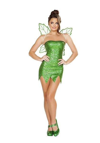 Amazon Com  Mischievous Fairy Costume, Sexy Green Fairy Costume