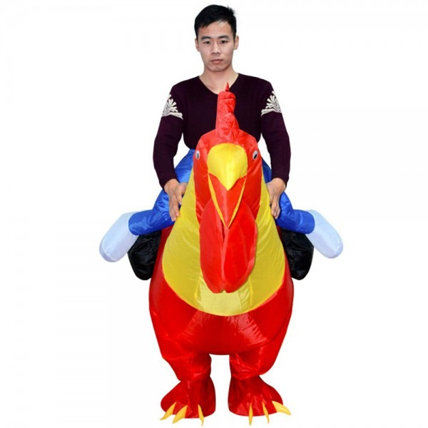 Amazon Com  Zhanghaidong Adult Inflatable Costume Rooster Chicken