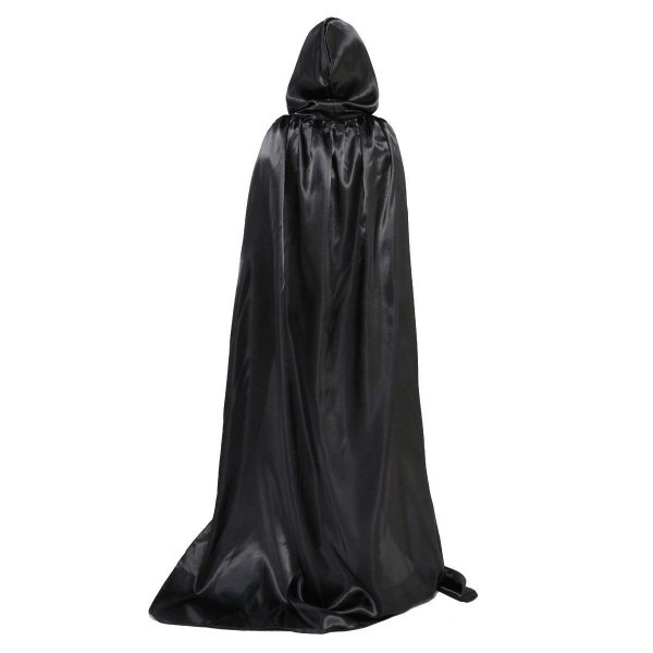 Amazon Com  Olabb Hooded Cape Cloak With Hood Black Cloaks Costume