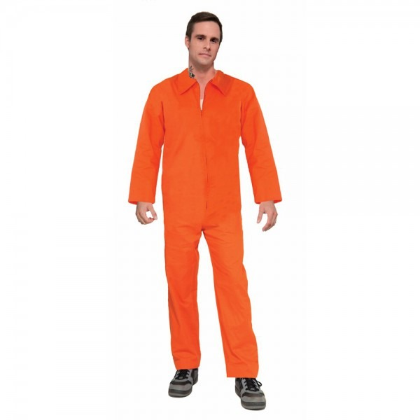 Amazon Com  Forum Novelties Adult Orange Prison Suit Unisex