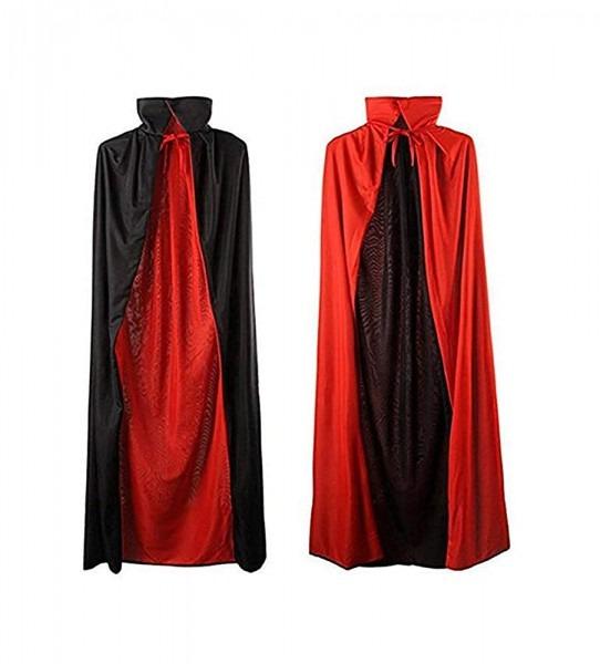 Amazon Com  Mezetihe 35'' Black And Red Halloween Cloak Magician