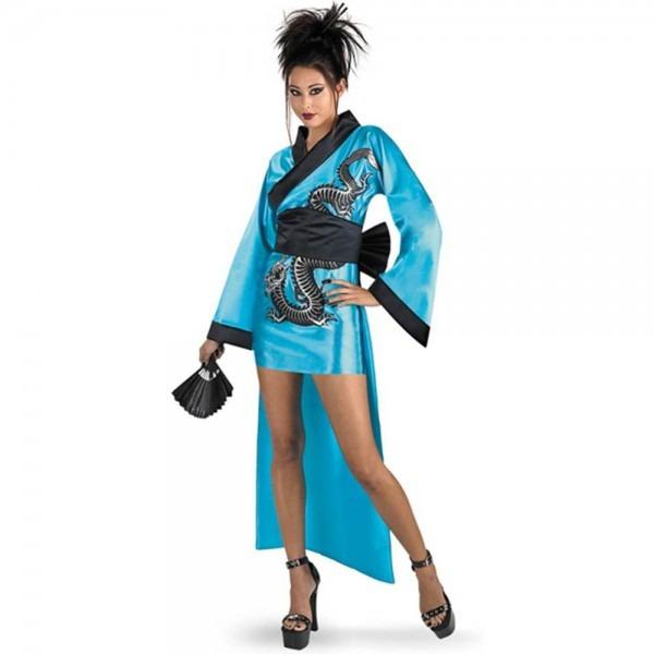 Amazon Com  Dragon Geisha Costume Adult  Clothing