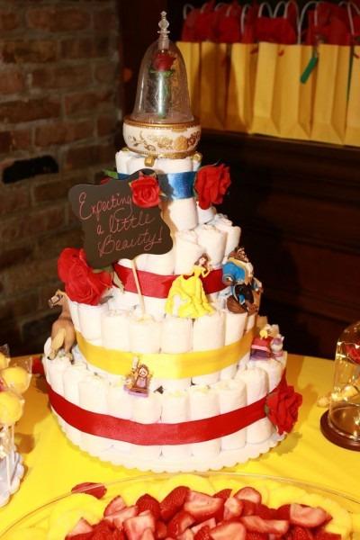 Beauty & The Beast Diaper Cake