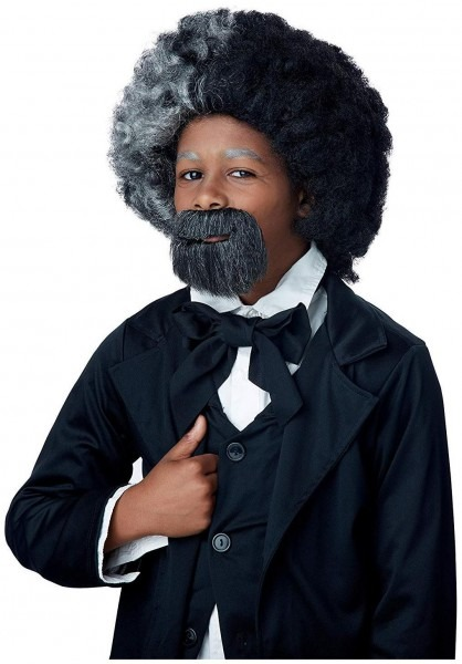Frederick Douglass Child Costume Wig & Goatee Set