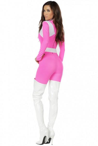 Hot Pink Womens Power Ranger Catsuit Costume Upscalestripper Com
