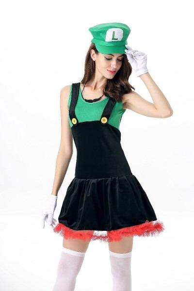 Ml5566 Cute Mario Bros Green Dress Costume, Search Ml5566 Cute