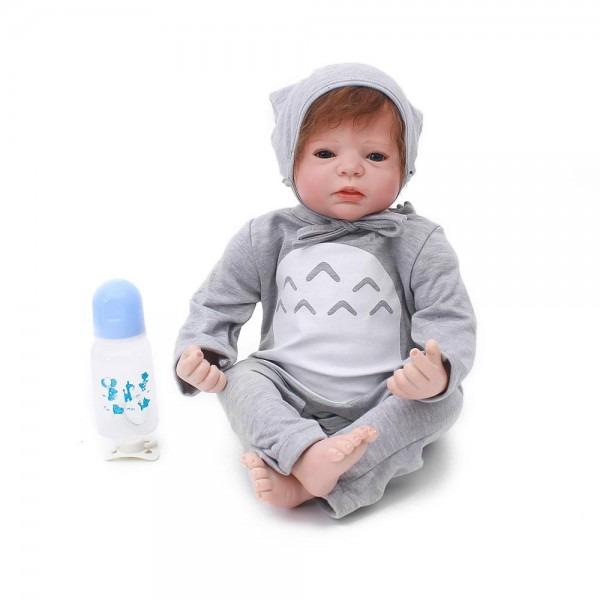 55cm Silicone Vinyl Reborn Baby Boy Doll Toys 22inch Alive Toddler
