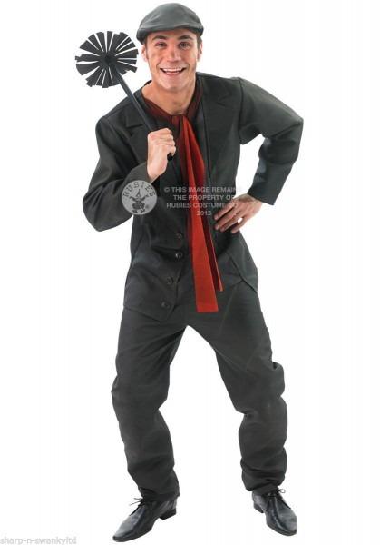 Disney Mens Bert The Chimney Sweep Victorian Fancy Dress Costume
