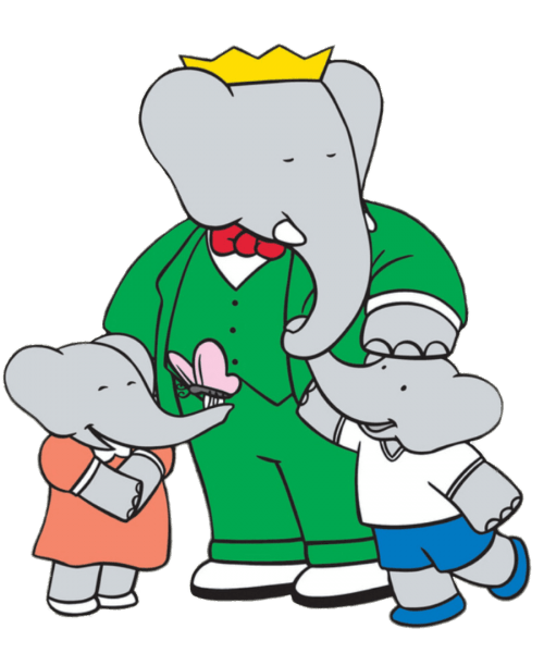 Babar The Elephant With Flora And Pom Transparent Png