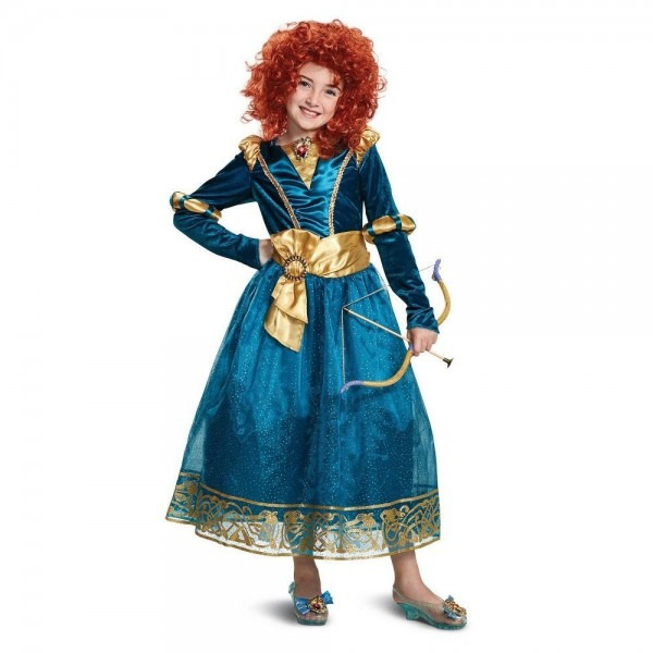 Disney Princess Brave Girls' Merida Deluxe Halloween Costume S