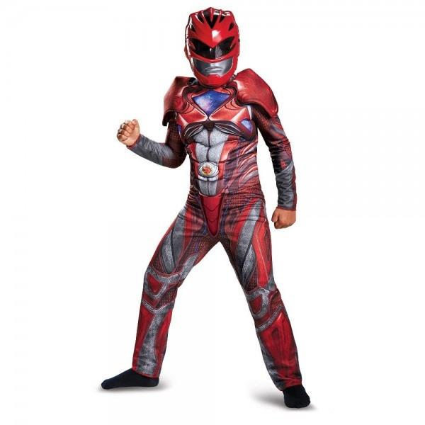 Power Rangers Red Ranger Boys' Deluxe Costume L (10
